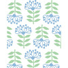 Tea Collection Stylized Papyrus Traditional Wallpaper, Cornflower - Wallpaper - 3