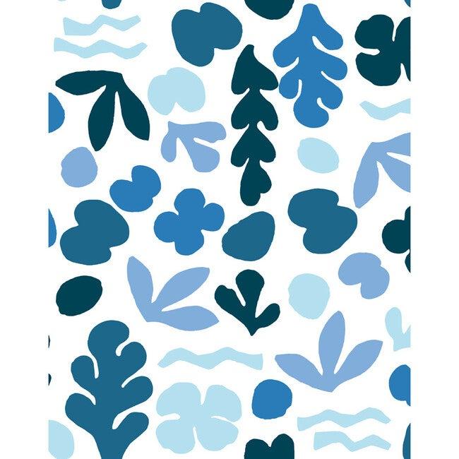 Tea Collection Sea Garden Removable Wallpaper, Blue