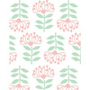 Tea Collection Stylized Papyrus Traditional Wallpaper, Pink - Wallpaper - 2