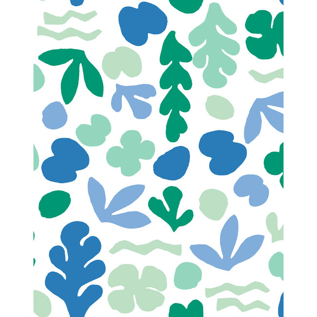 Tea Collection Sea Garden Traditional Wallpaper, Azure Aqua