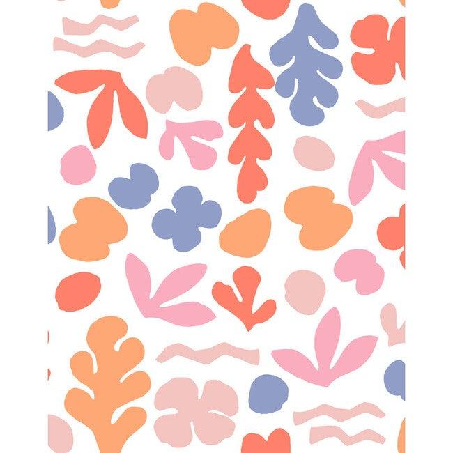 Tea Collection Sea Garden Removable Wallpaper, Coral & Pink