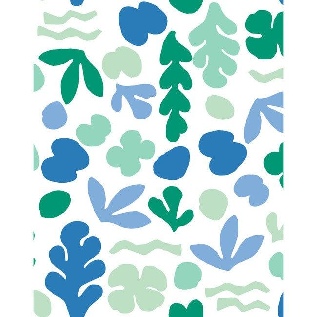 Tea Collection Sea Garden Removable Wallpaper, Azure Aqua