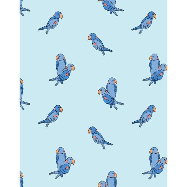 Tea Collection Alexandrine Parakeet Removable Wallpaper, Small Sky