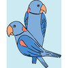 Tea Collection Alexandrine Parakeet Traditional Wallpaper, Small Sky - Wallpaper - 3