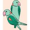 Tea Collection Alexandrine Parakeet Removable Wallpaper, Small Caribbean - Wallpaper - 3