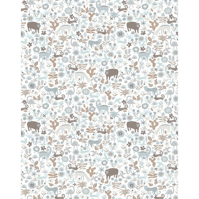 Tea Collection Menagerie Removable Wallpaper, Neutral