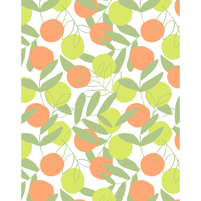 Tea Collection Citrus Traditional Wallpaper, Citrine