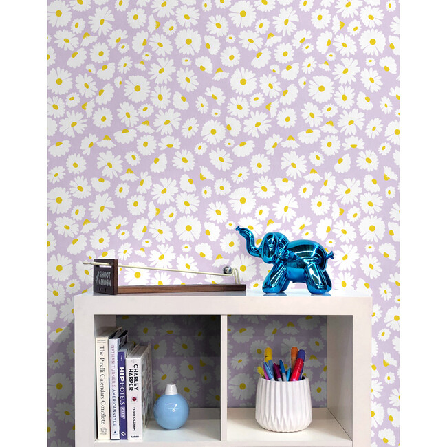 Pop Daisy Removable Wallpaper, Lavender