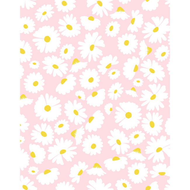 Pop Daisy Removable Wallpaper, Pink