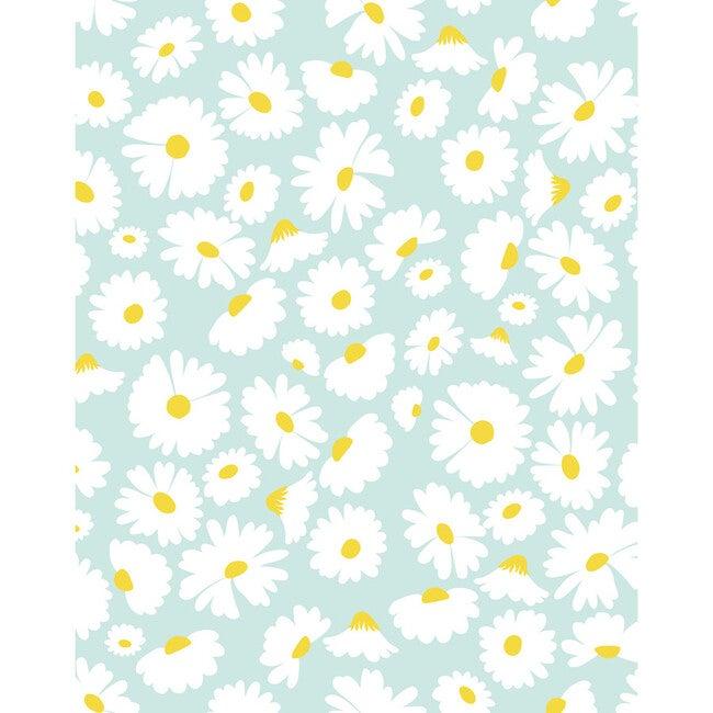 Pop Daisy Removable Wallpaper, Seafoam