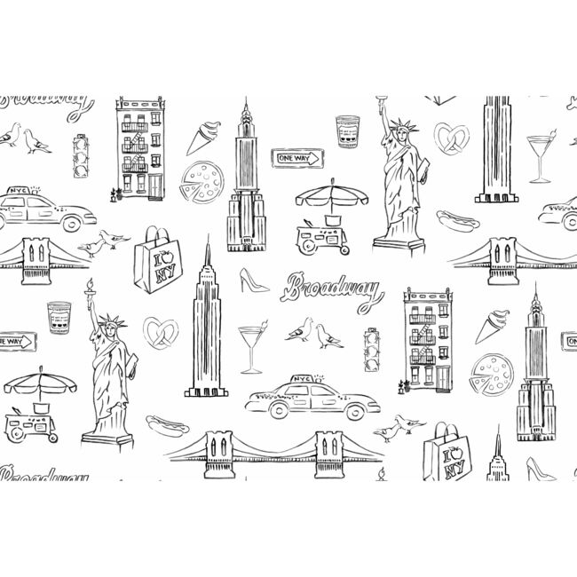 Nathan Turner NYC Removable Wallpaper, White - Wallpaper - 1