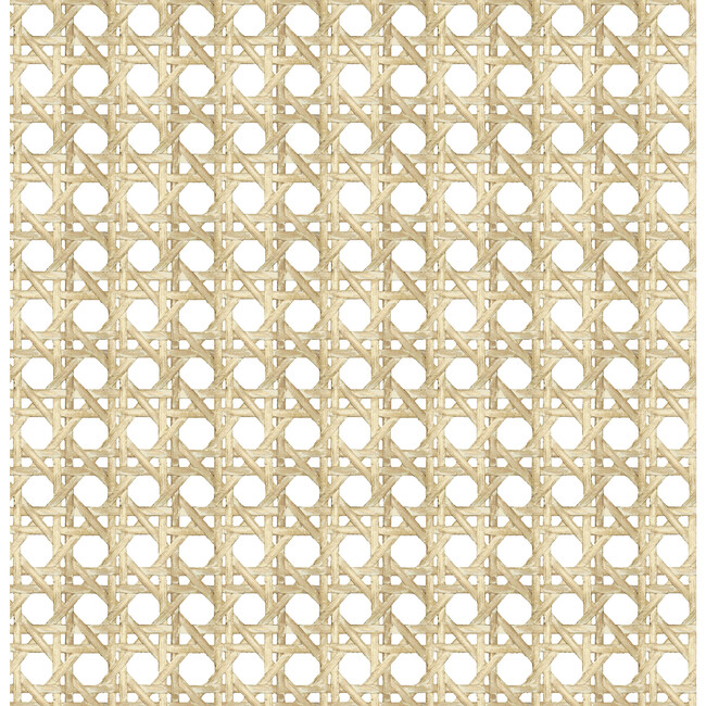Large Caning Traditional Wallpaper, Sesame