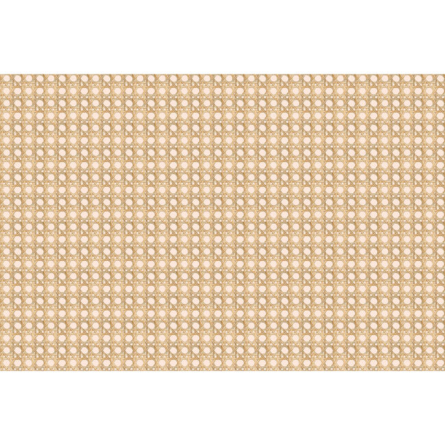 Caning Removable Wallpaper, Peach