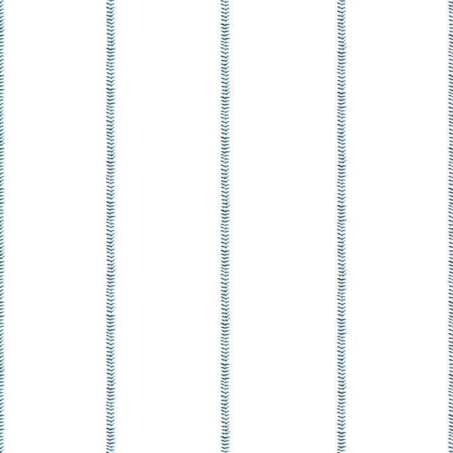 Baseball Stitch Traditional Wallpaper, Blue