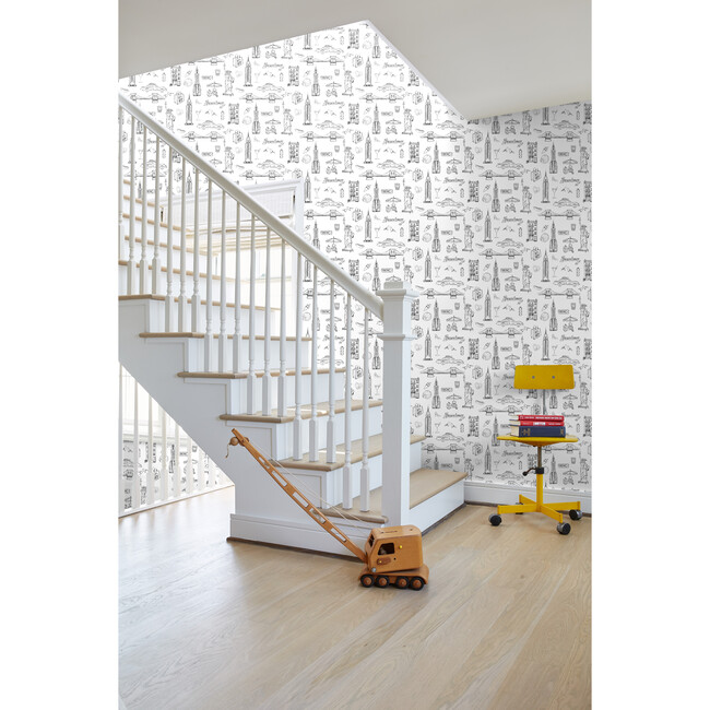 Nathan Turner NYC Removable Wallpaper, White