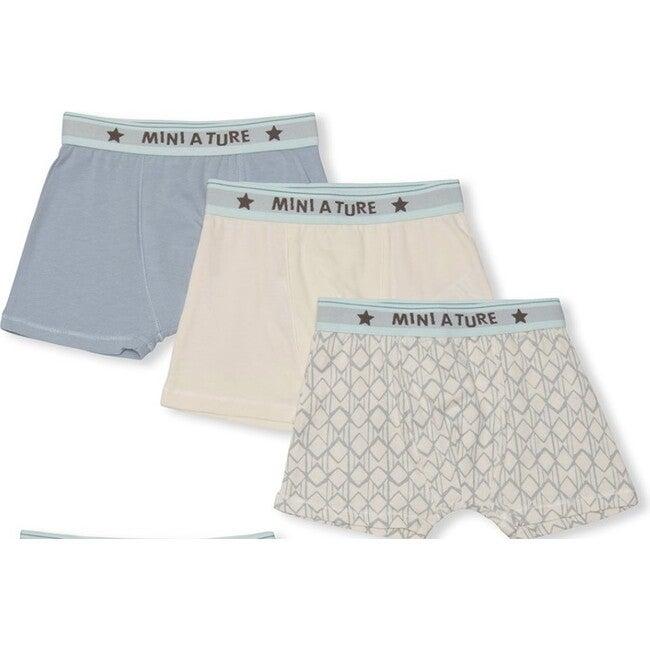 3-pack Organic Yash boxers, Blue Mix