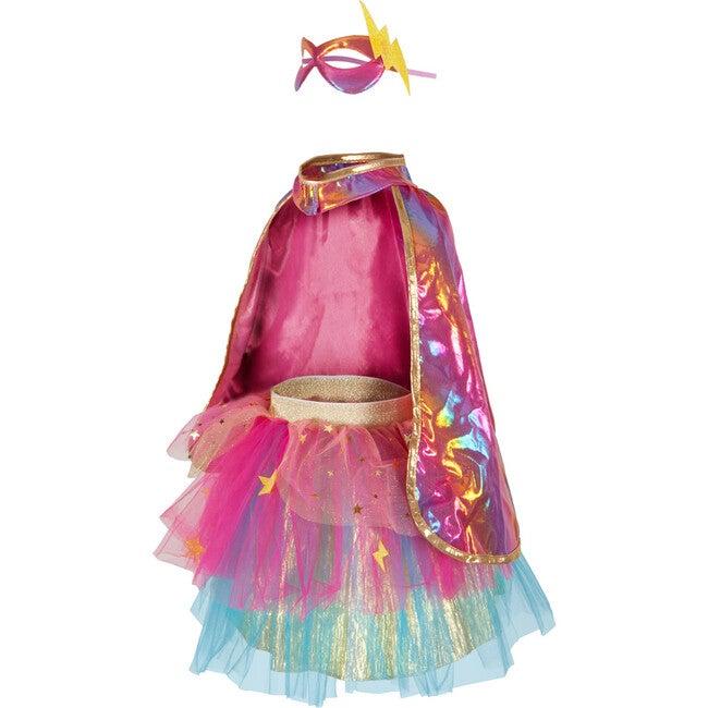 Super-Duper Tutu, Cape and Mask, Pink/Gold