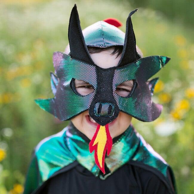 Ultimate Dragon Knight Cape & Mask, Blue Metallic