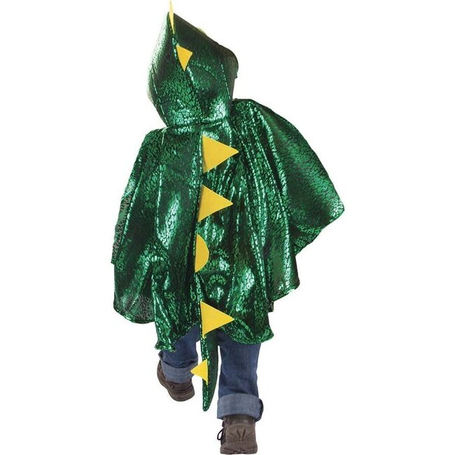 Dragon Toddler Cape, Green/Metallic