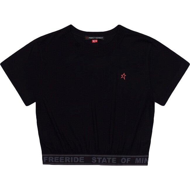 Women's Waisted Sport T-Shirt, Black