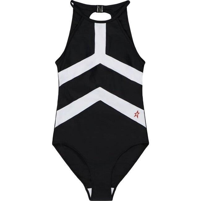 Women's Nordic One-piece, Black/White