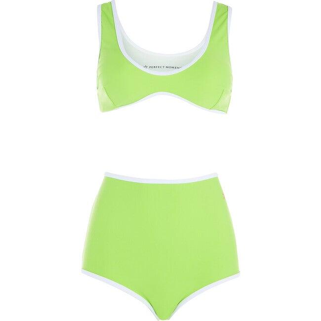 Women's High Waist Bikini, Nordic Green