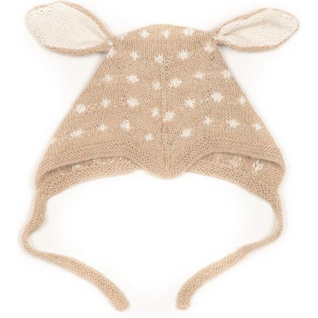 Mini Bambi Bonnet w/ears, Oak/Off White