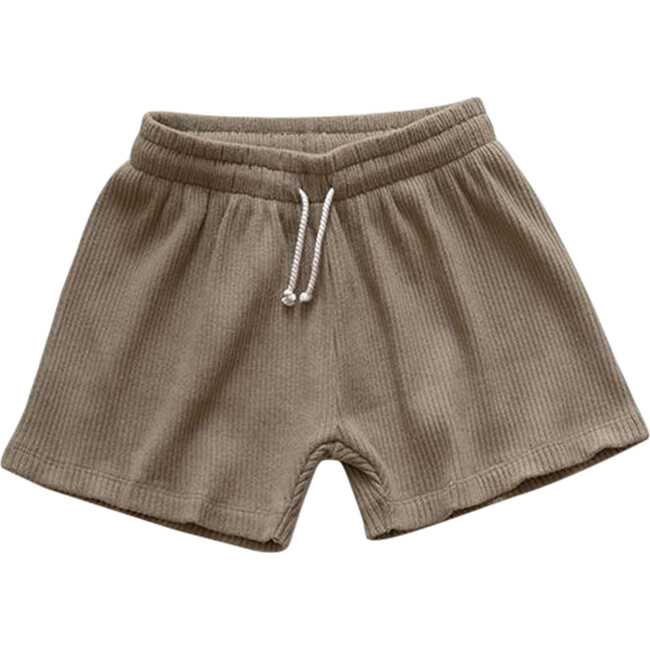 The Baby Ribbed Short, Mushroom - Shorts - 1