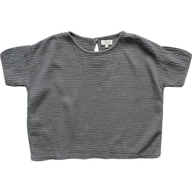 The Baby Muslin Top, Lead Gray