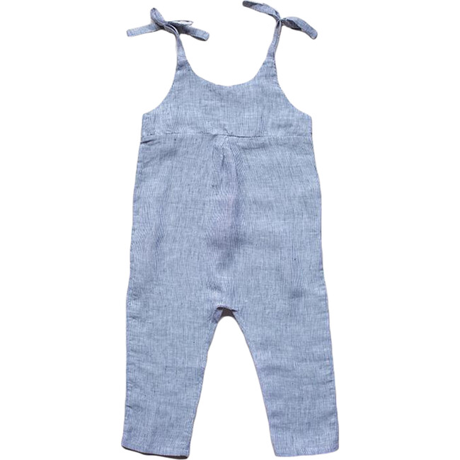 The Baby Greta Overall, French Stripe
