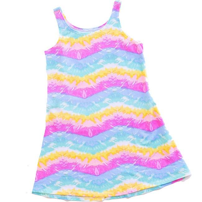 Tidal Wave Tank Dress, Rainbow