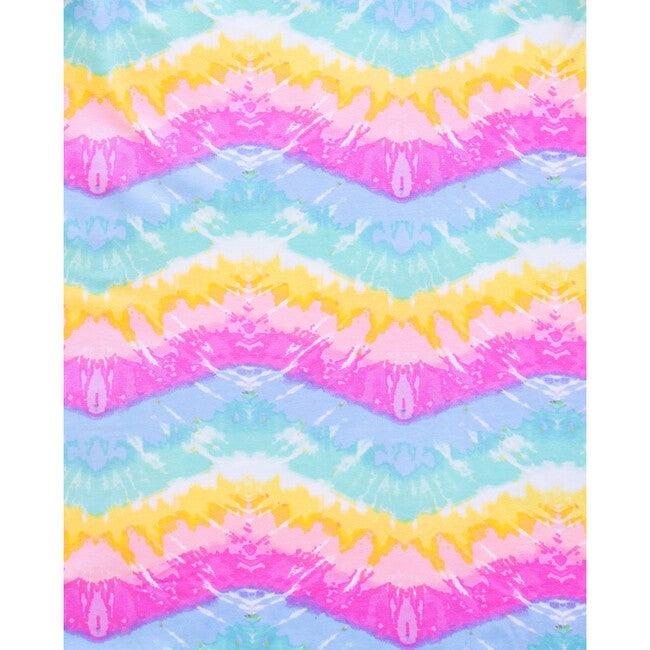 Tidal Wave Short Sleeve Lounge Dress, Rainbow