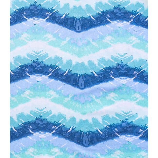 Tidal Wave Short Sleeve Lounge Dress, Blue