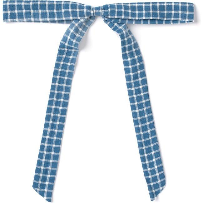 Ribbon Bow, Blue Chex