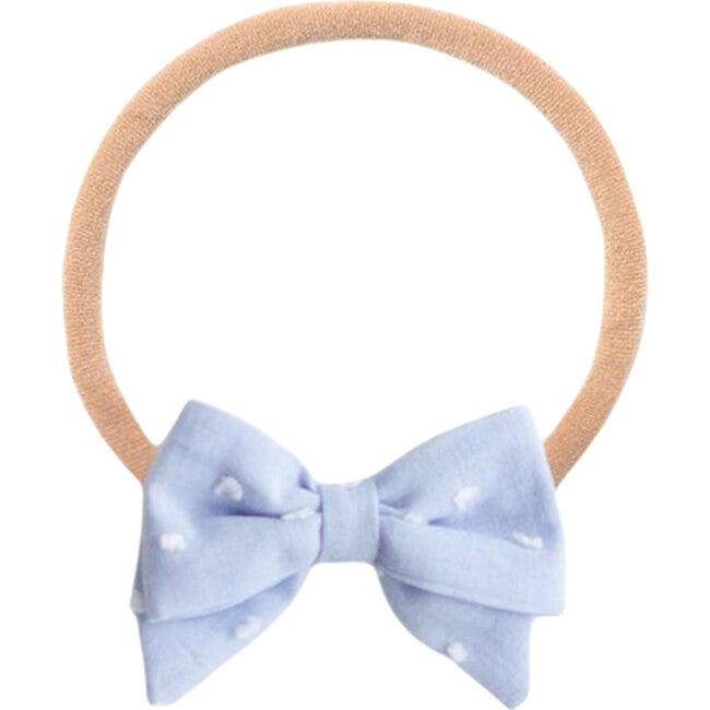 Powder Blue Dot Baby Headband