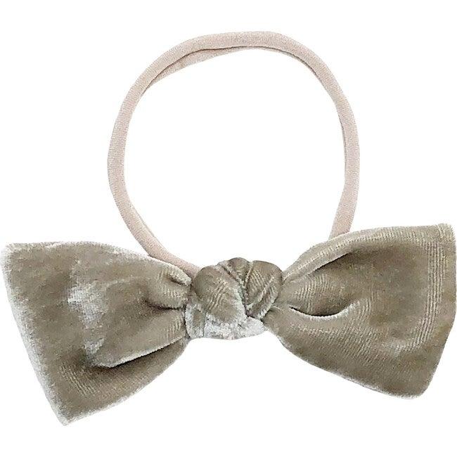 Oatmeal Silk Velvet Bow Headband