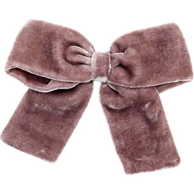 Mulberry Silk Velvet Bow Clip