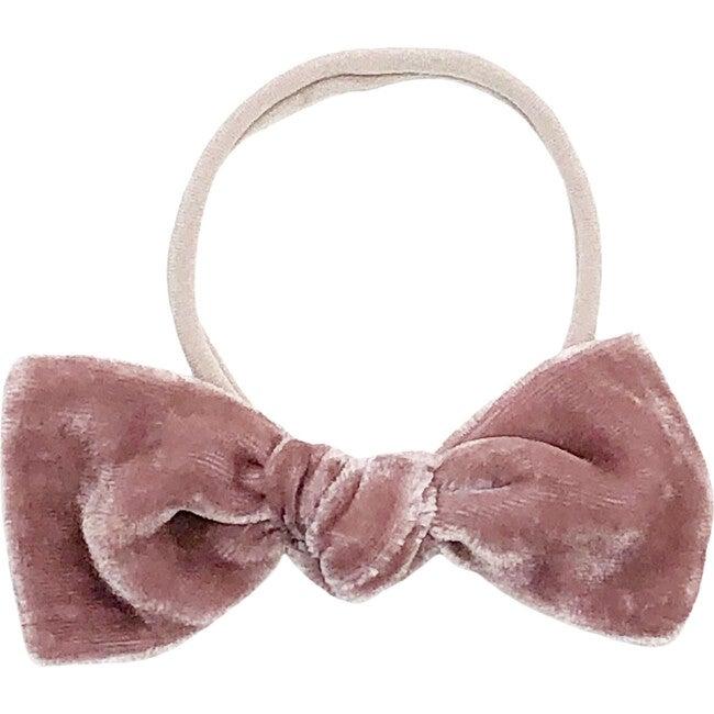 Mauve Silk Velvet Bow Headband