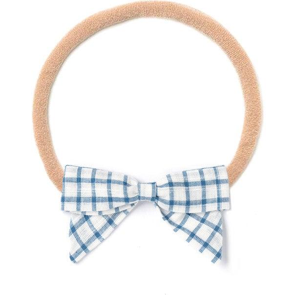 Headband Bow, White Chex