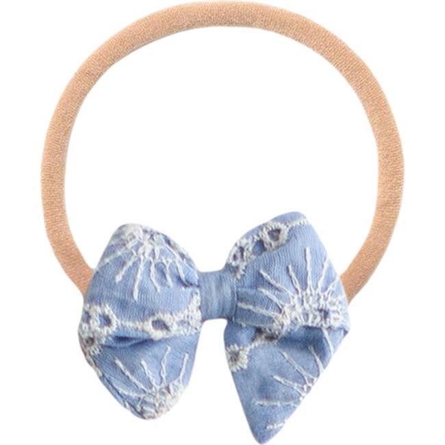 Chambray Eyelet Baby Headband