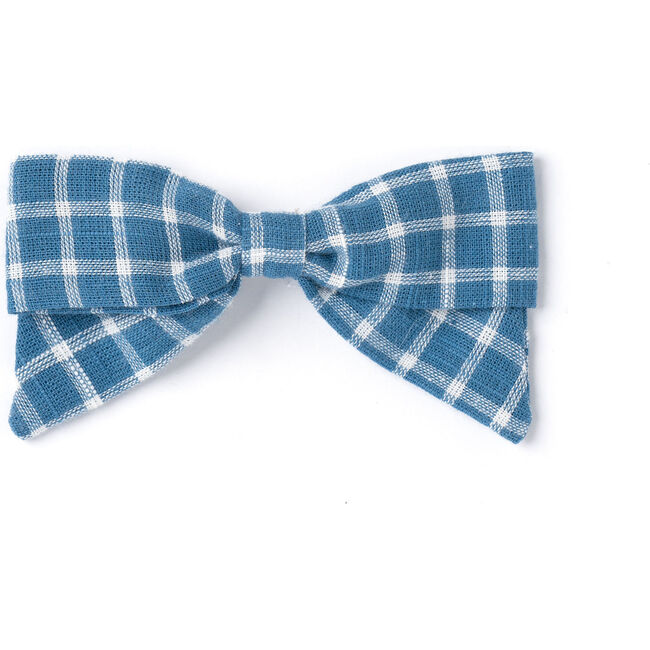 Bow, Blue Chex