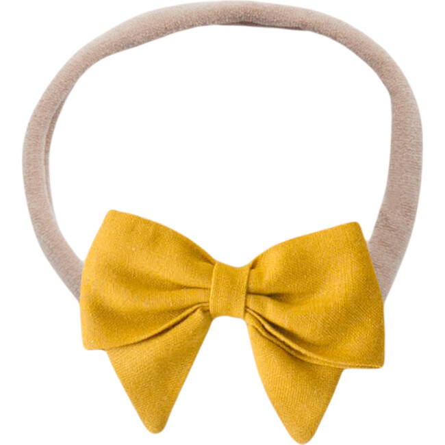 Bow Headband, Mustard