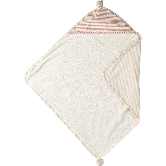 Stripes Away Hooded Towel, Petal/Dark Pink