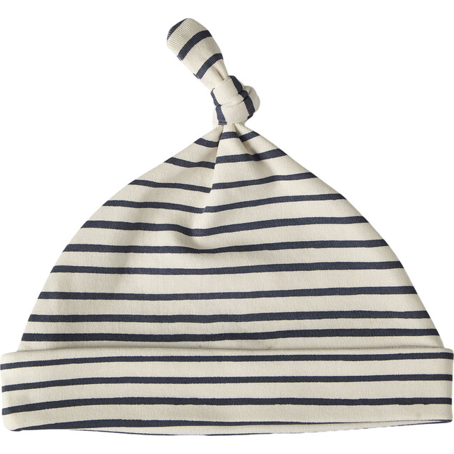 Organic Stripes Away Knot Hat, Ink