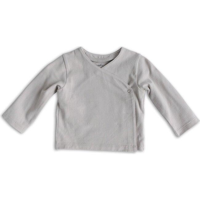 Essential Wrap Cardigan, Dove Grey