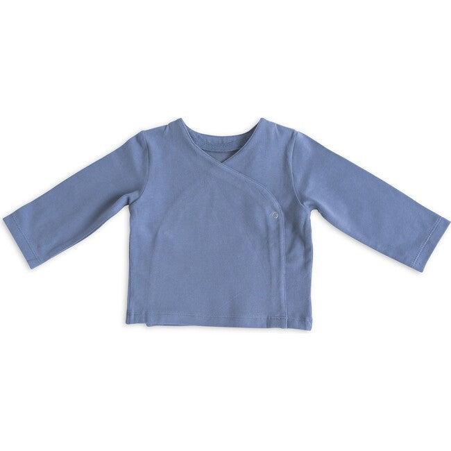 Essential Wrap Cardigan, Cloud Blue