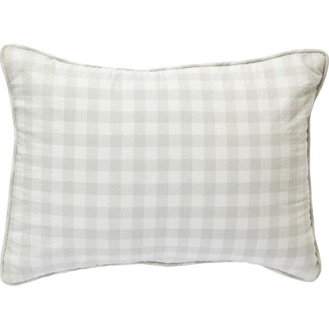Check Mate Nursery Pillow, Fog - Pillows - 1