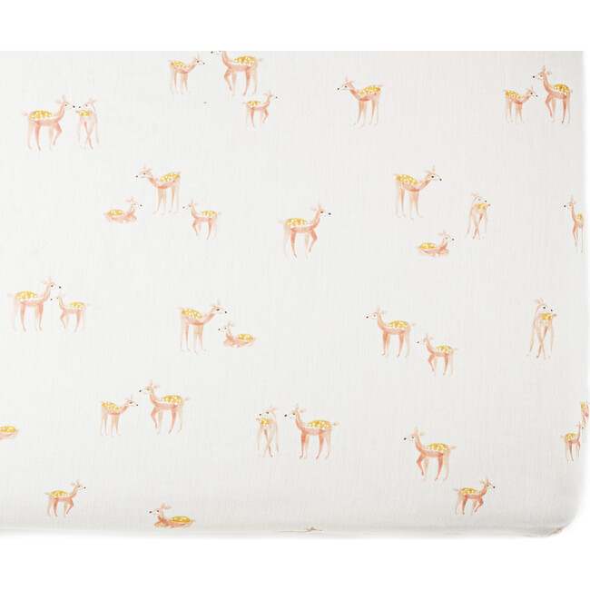 Follow Me Organic Cotton Crib Sheet, Deer