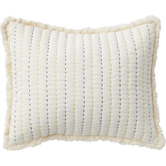 Rest My Head Quilted Pillow, Blue
