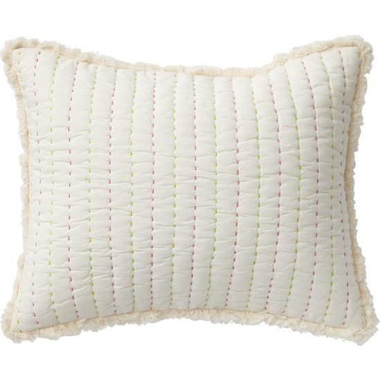 Rest My Head Quilted Pillow, Pink - Pillows - 1